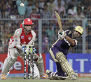 Gautam Gambhir plays a slog-sweep, Kolkata Knight Riders v Kings XI Punjab, IPL 2011, Kolkata, April 30, 2011