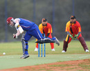 Gavin Beath keeps one out, Japan v Germany, ICC World Cricket League Division Seven, Gaborone, Botswana, May 1, 2011
