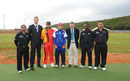 Players and officials inaugurate the new Lobatse Cricket Ground in Botswana, Japan v Germany, ICC World Cricket League Division Seven, Gaborone, Botswana, May 1, 2011