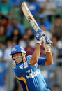 Andrew Symonds watches the ball go to the off side, Mumbai Indians v Kings XI Punjab, IPL 2011, Mumbai, May 2, 2011
