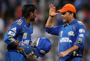 The stand between Ambati Rayudu and Sachin Tendulkar set up the victory, Mumbai Indians v Kings XI Punjab, IPL 2011, Mumbai, May 2