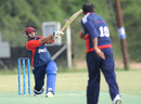 Hisham Mirza hits a six, Norway v Kuwait, ICC World Cricket League Division Seven, Gaborone, Botswana, May 2, 2011