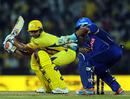 Suresh Raina looks to score through the off side, Chennai Super Kings v Rajasthan Royals, IPL 2011, Chennai, May 4, 2011