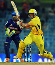 Michael Hussey heaves through square leg, Chennai Super Kings v Rajasthan Royals, IPL 2011, Chennai, May 4, 2011