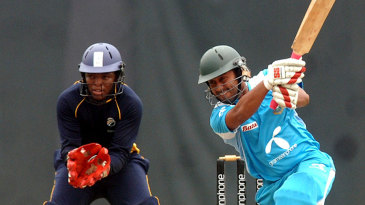 BCB NCA captain Mohammad Mithun hits through the covers
