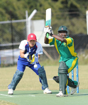 Segun Olayinka top scored for Nigeria with 51, Japan v Nigeria, World Cricket League Division 7, Gaborone, May 5, 2011