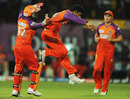 Raiphi Gomez picked up two wickets off successive balls, Kochi Tuskers Kerala v Kolkata Knight Riders, IPL 2011, Kochi, May 5, 2011