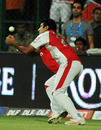 Sunny Singh gave Chirs Gayle a reprieve but he was dismissed the very next ball, Royal Challengers Bangalore v Kings XI Punjab, IPL 2011, Bangalore, May 6, 2011