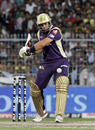Jacques Kallis lines up to play a shot, Kolkata Knight Riders v Chennai Super Kings, IPL 2011, Kolkata, May 7, 2011