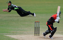 Rory Hamilton-Brown took a sharp catch to remove Matthew Boyce, Surrey v Leicestershire, CB40, The Oval, May 8, 2011