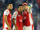 Bipul Sharma, Bhargav Bhatt and Adam Gilchrist are thrilled with the big win, Kings XI Punjab v Mumbai Indians, IPL 2011, Mohali, May 10, 2011