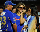 Shane Warne, Elizabeth Hurley and Shilpa Shetty in conversation