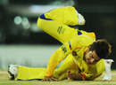 Suresh Raina makes a diving stop, Chennai Super Kings v Delhi Daredevils, IPL 2011, Chennai, May 12, 2011