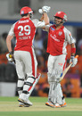 David Hussey and Mandeep Singh celebrate Punjab's win, Kochi Tuskers Kerala v Kings XI Punjab, IPL 2011, Indore, May 13, 2011