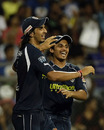 Ishant Sharma took a catch to send Andrew Symonds back, Mumbai Indians v Deccan Chargers, IPL 2011, Mumbai, May 14, 2011