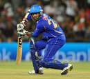 Faiz Fazal plays one square on the off side, Kochi Tuskers Kerala v Rajasthan Royals, IPL 2011, Indore, May 15, 2011