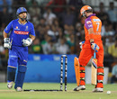 Brendon McCullum is bowled by Nayan Doshi, Kochi Tuskers Kerala v Rajasthan Royals, IPL 2011, Indore, May 15, 2011