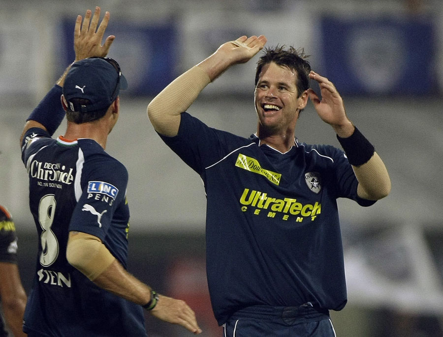 High nine: Dan Christian recalled his incredulity at watching his price shoot up at the 2011 IPL auction, all the way to $ 900,000
