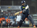 Sunny Sohal carves the ball through the off side, Pune Warriors v Deccan Chargers, IPL 2011, Navi Mumbai, May 16 2011