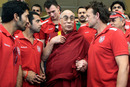 The Kings XI Punjab squad meets with the Dalai Lama