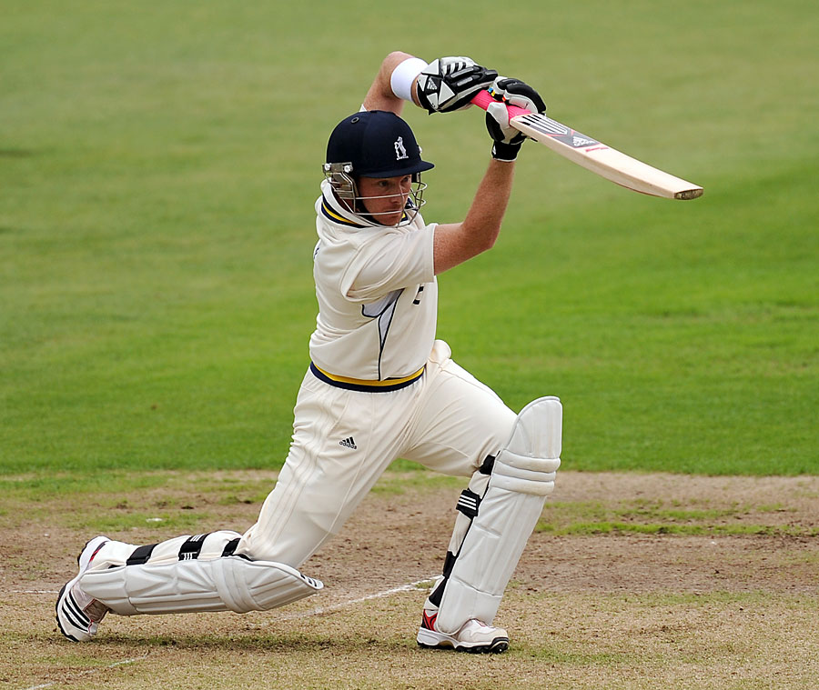 Ian Bell drives through the covers before rain arrives at Trent ...