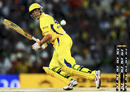Michael Hussey guides the ball through the off side