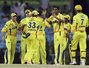 Chennai's bowlers kept picking up wickets at regular intervals