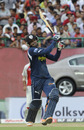 Ravi Teja lifts one to the boundary during his knock of 60, Kings XI Punjab v Deccan Chargers, IPL 2011, Dharamsala, May 21, 2011