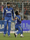 Abu Nechim takes a catch to send Yusuf Pathan back, Kolkata Knight Riders v Mumbai Indians, IPL 2011, May 22, 2011