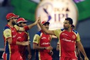 Bangalore celebrate James Franklin's wicket, Bangalore v Mumbai, 2nd qualifier, IPL 2011, Chennai, May 27, 2011