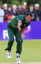 Tanvir Ahmed sends one down, Ireland v Pakistan, 1st ODI, Belfast, May 28, 2011