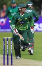 Taufeeq Umar runs through for a single, Ireland v Pakistan, 1st ODI, Belfast, May 28, 2011