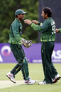 Mohammad Salman caught Ed Joyce off Saeed Ajmal's bowling, Ireland v Pakistan, 2nd ODI, Belfast, May 30, 2011