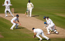 Kumar Sangakkara edged to slip off Graeme Swann