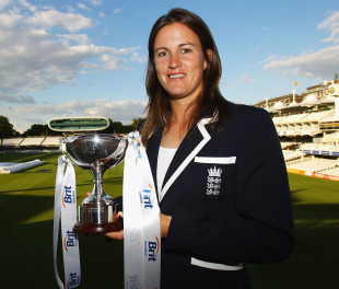 Lydia Greenway with the ECB award for women's cricketer of the year, Lord's, London, May 31, 2011