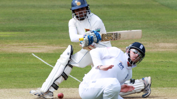 Ian Bell was struck a painful blow on the lower back while fielding at short leg