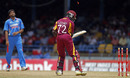 Munaf Patel disturbs Andre Fletcher's stumps, West Indies v India, Only Twenty20, Port of Spain, June 4, 2011