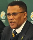 Cricket South Africa chief executive Gerald Majola speaks to the media, Johannesbug, June 6, 2011