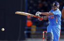 Suresh Raina hits out during a cameo, West Indies v India, 2nd ODI, Trinidad, June 8, 2011