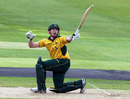 Riki Wessels hits out during his 70 against Warwickshire