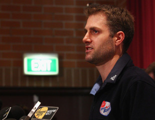 Simon Katich addresses the media after losing out on a central contract, Sydney, June 10, 2011