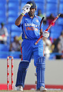 Rohit Sharma's unbeaten 86 helped India seal the series, West Indies v India, 3rd ODI, Antigua, June 11, 2011