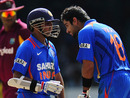 Virat Kohli chats with Parthiv Patel, West Indies v India, 2nd ODI, Trinidad, June 8, 2011