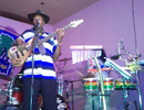 Curtly Ambrose performs with his band, Spirited, in Antigua