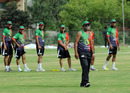 Afghanistan coach Rashid Latif supervises a training session at a local cricket stadium in Islamabad, May 28, 2011