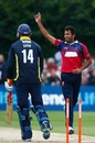 Wahab Riaz took five wickets including a hat-trick against Gloucestershire