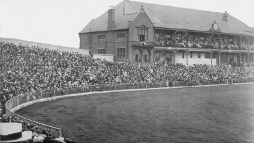 The crowd at Bramall Lane for the first day of the ground's only Test