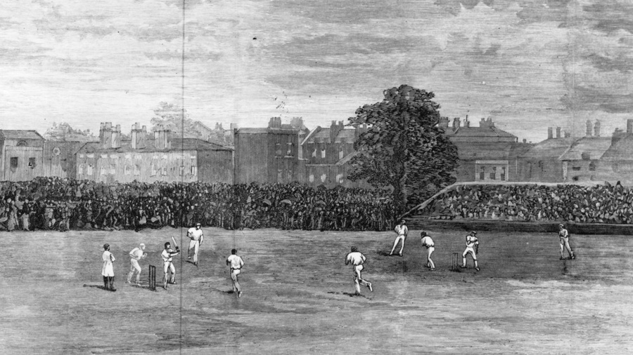 An illustration of the 1882 Oval Test