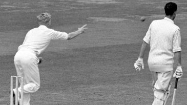 Geoff Griffin resorts to underarm bowling after being no-balled