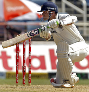 Rahul Dravid guides one through the off side, West Indies v India, 1st Test, Kingston, 3rd day, June 22, 2011